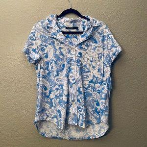 Lauren Ralph Lauren Pajama Top Blue Large NWT NEW
